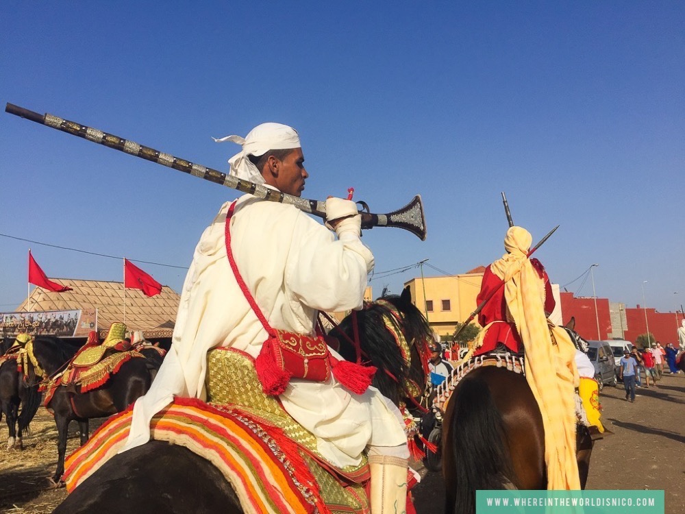 Horseman in traditional garb in Morocco