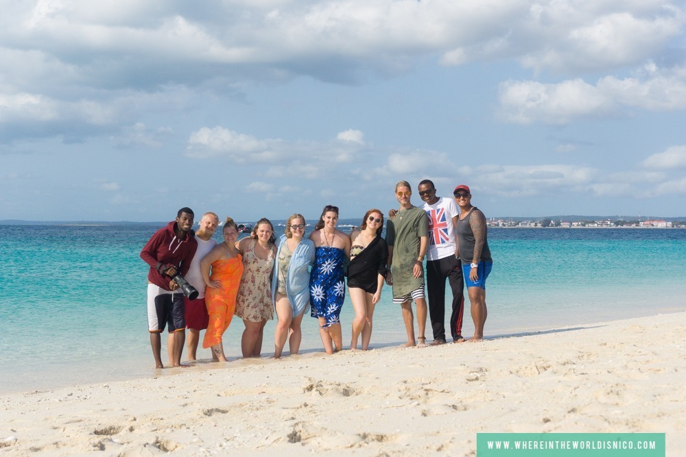 Crew at the Sand Bank in Zanzibar, Tanzania