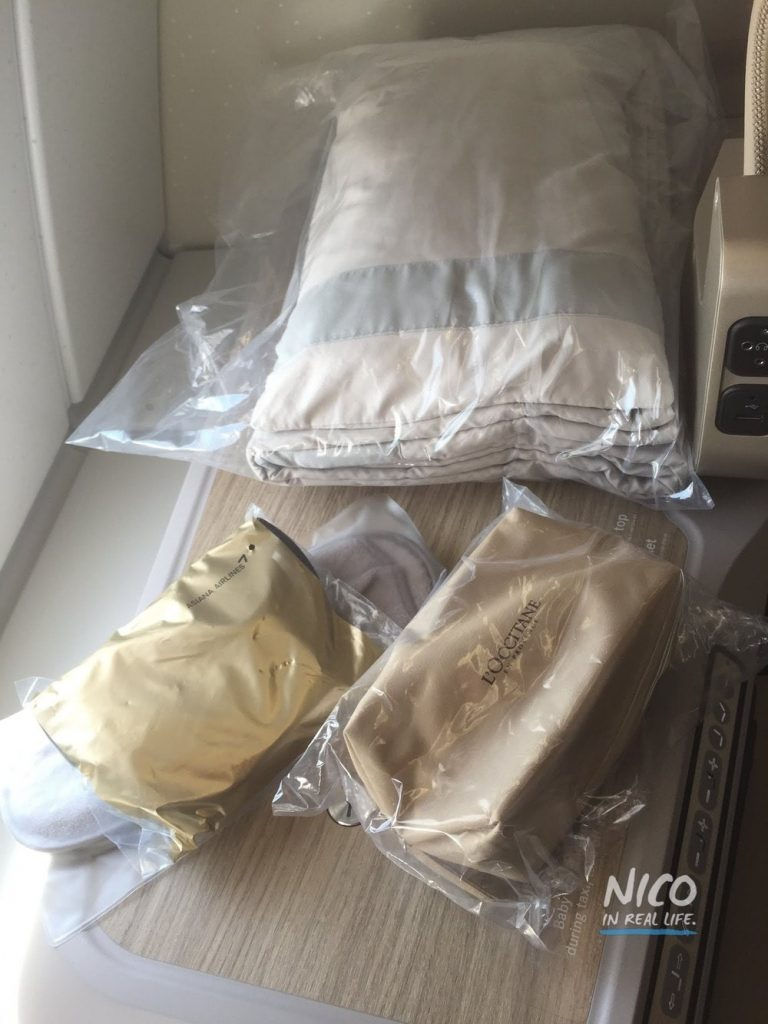 Asiana A380 Business Class Amenity Kit, Pillow & Blanket