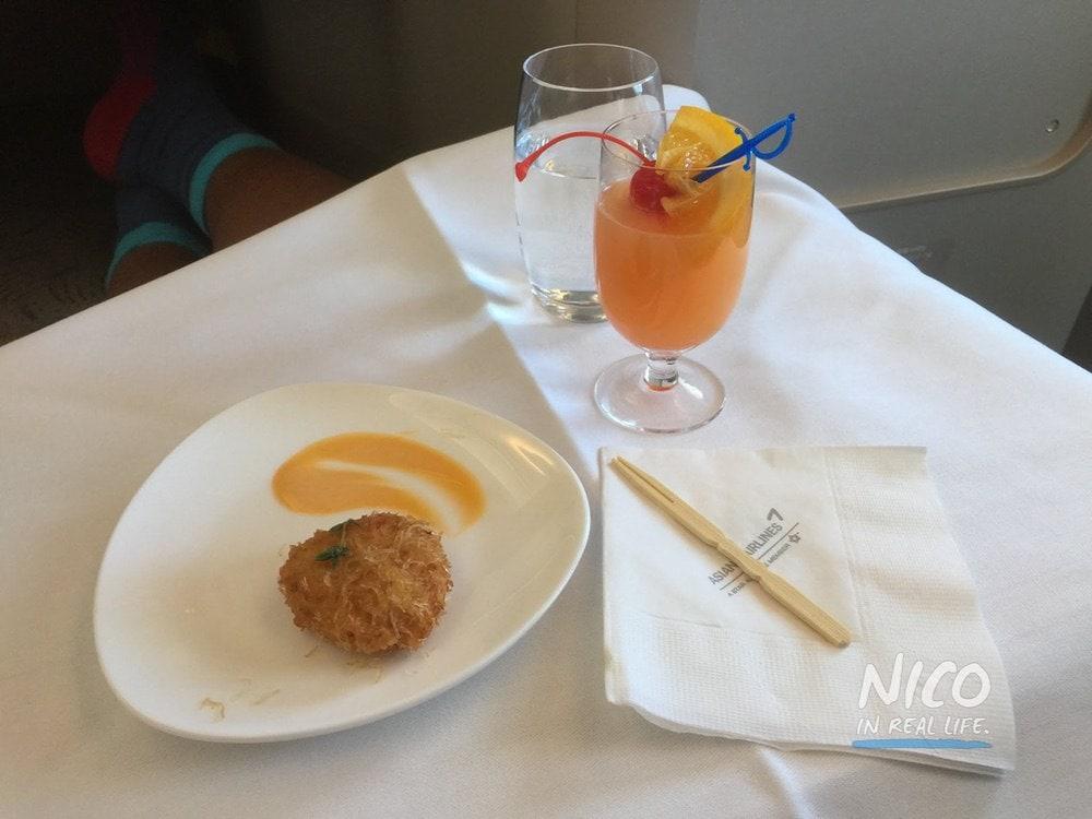 Asiana A380 Business Class amuse bouche