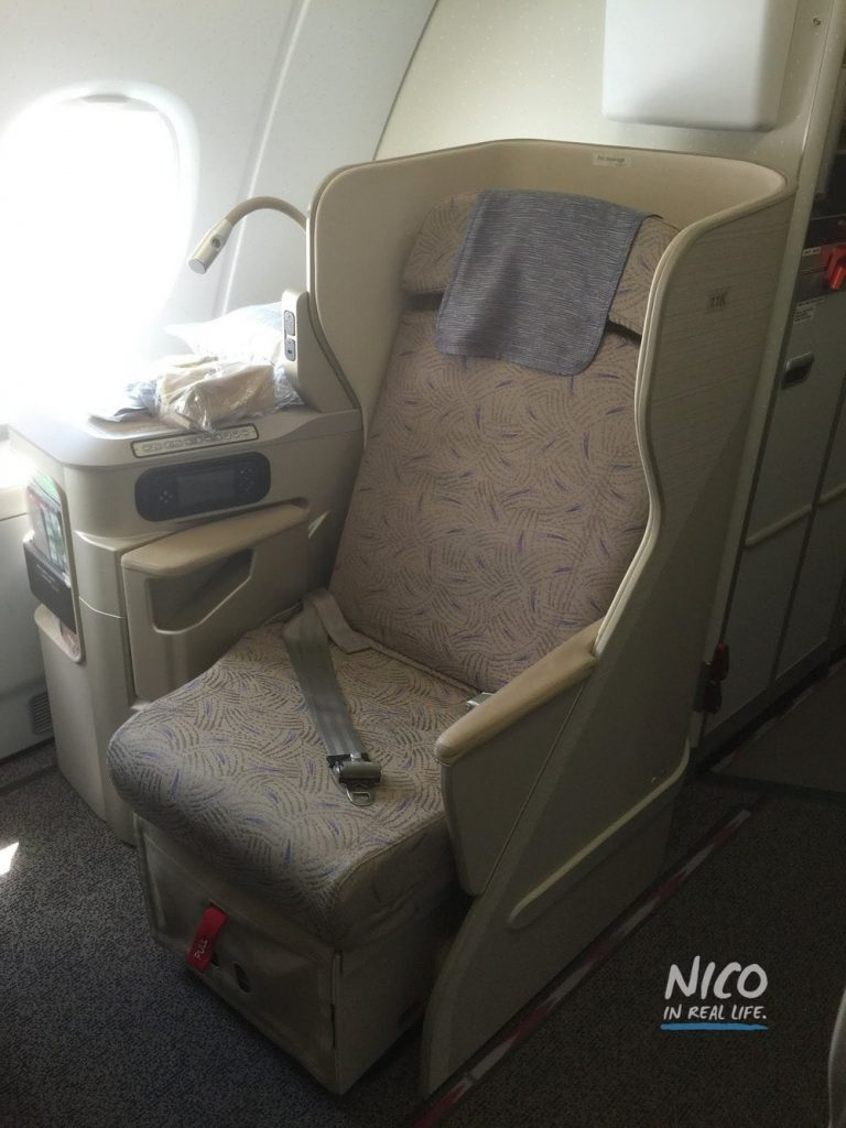 Asiana A380 Business Class seat