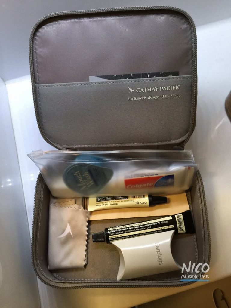 Cathay Pacific 777 First Class mens amenity kit