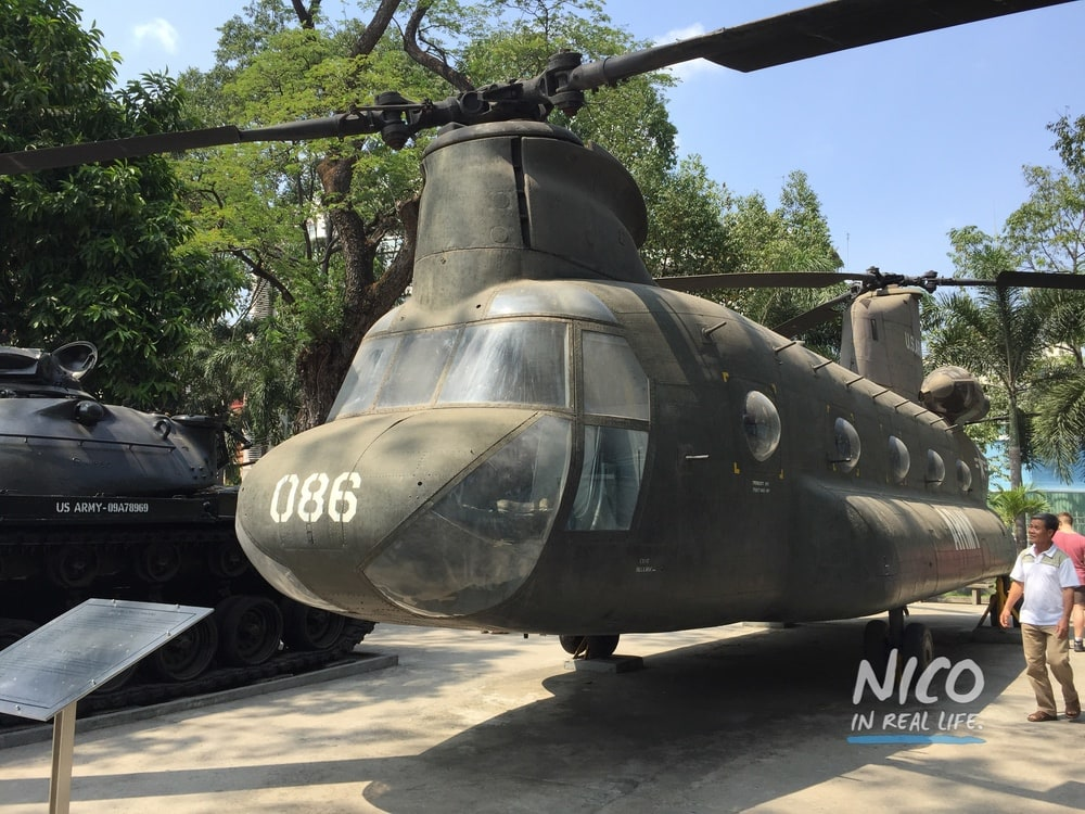 Chopper at the War Remnants Museum in Ho Chi Minh City, Vietnam