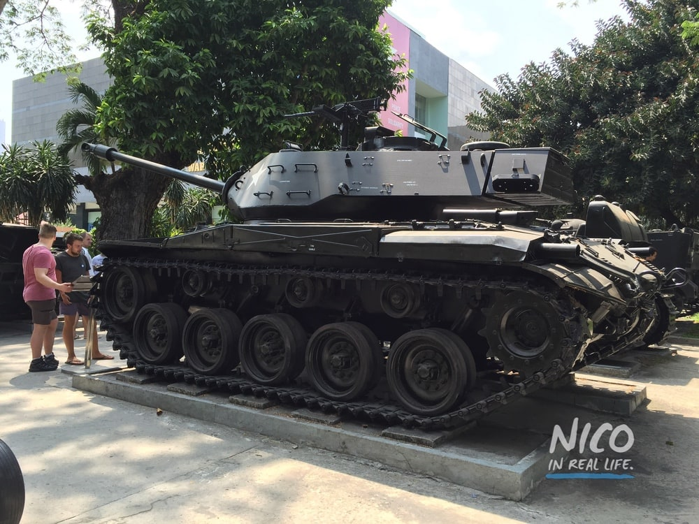 Tank at the War Remnants Museum in Ho Chi Minh City, Vietnam