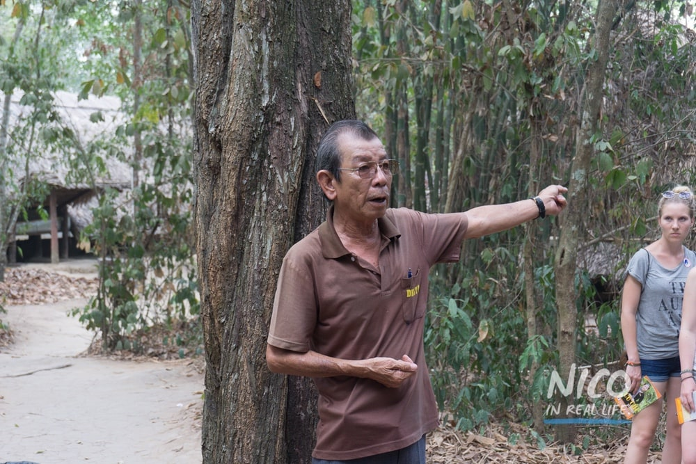 Tour Guide at the Cu Chi Tunnels in Vietnam