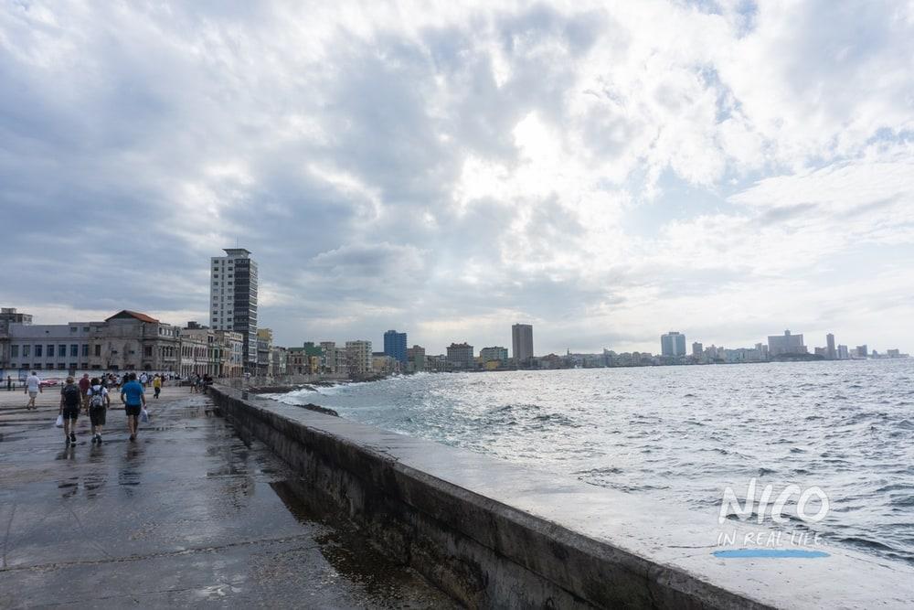 Malecon sea wall in Havana, Cuba