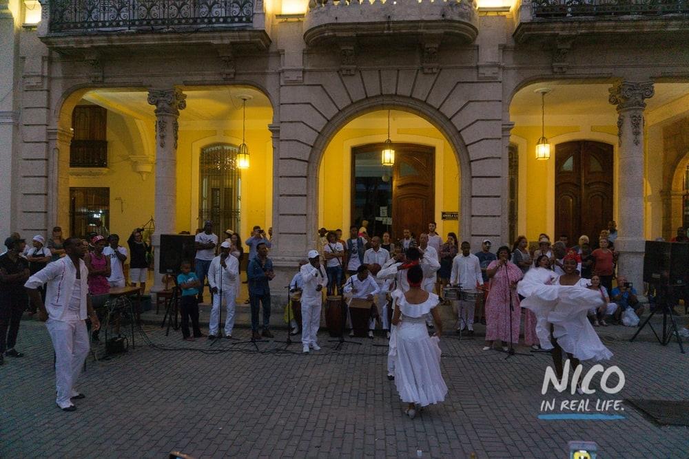 Dance performance in Plaza Vieja in Havana, Cuba