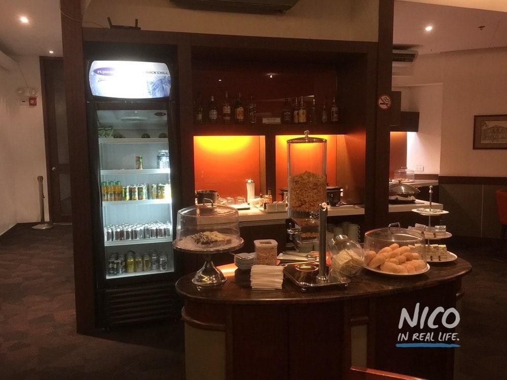 Main food station at Miascor Lounge MNL
