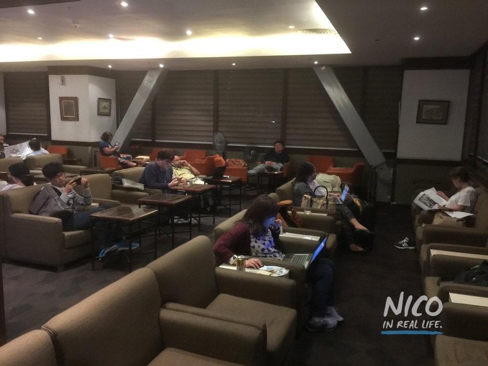 Main seating area at Miascor Lounge MNL