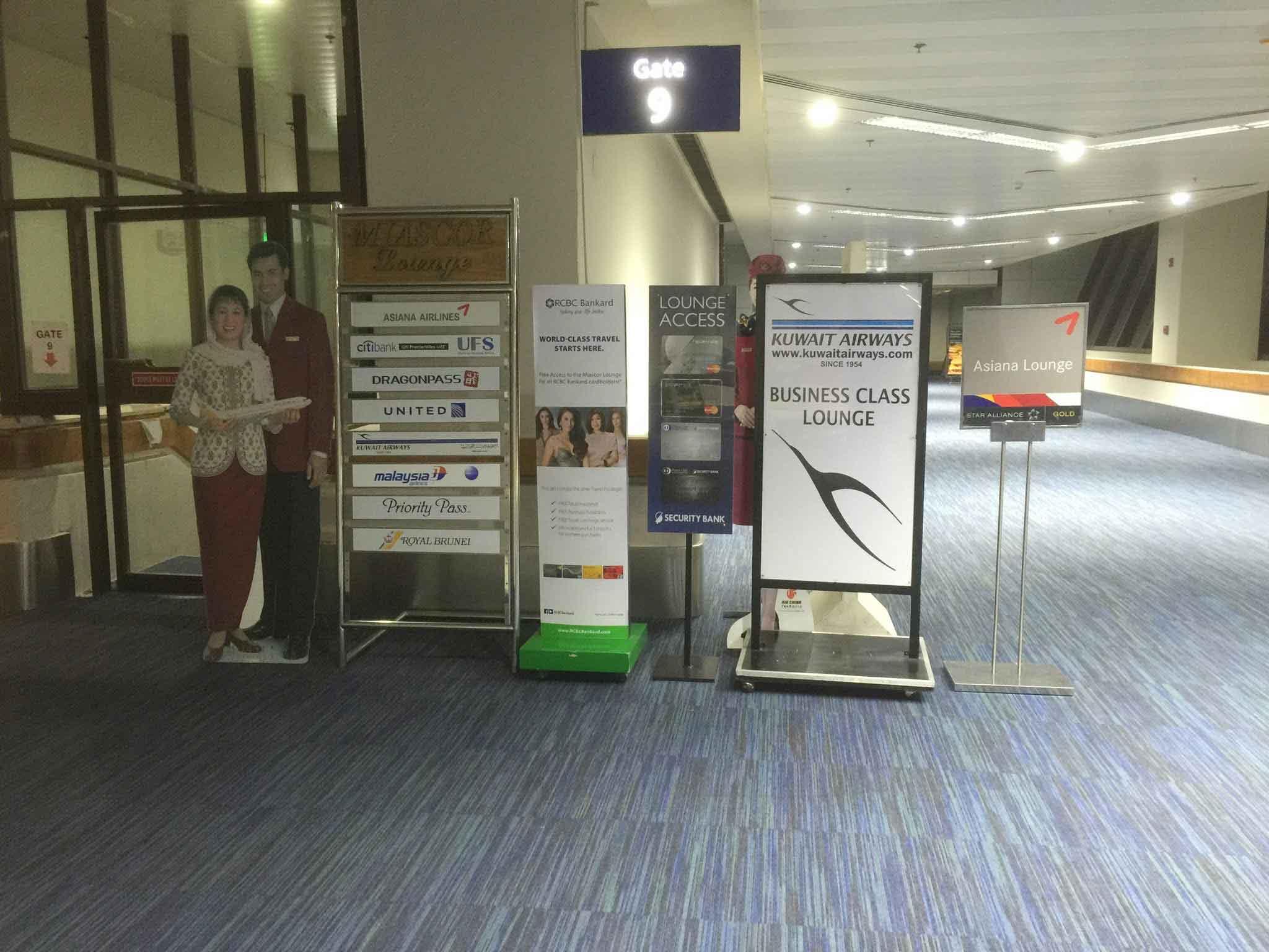 Miascor Lounge MNL Signage