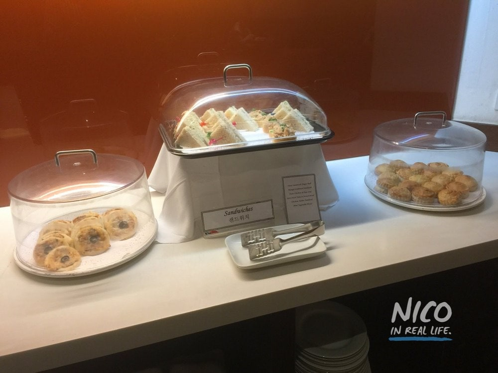 Sandwiches and pastries at Miascor Lounge MNL