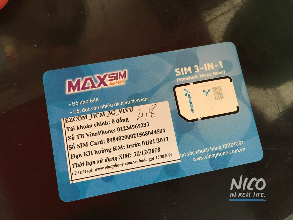 Prepaid SIM card in Vietnam