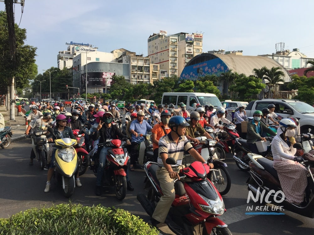 Motorcycles galore in Ho Chi Minh City, Vietnam
