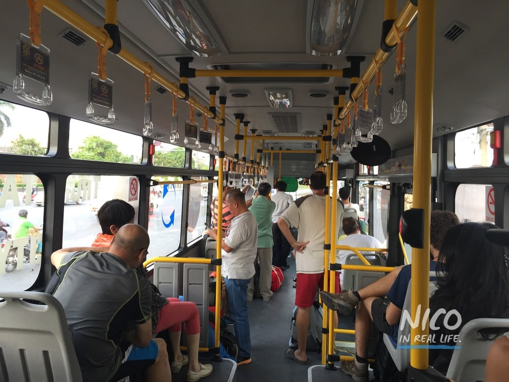 Airport bus into Ho Chi Minh City, Vietnam