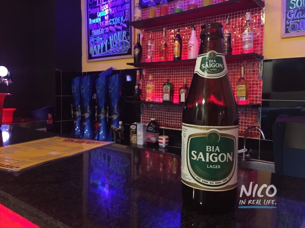 Bottle of Bia Saigon Lager - Ho Chi Minh City, Vietnam