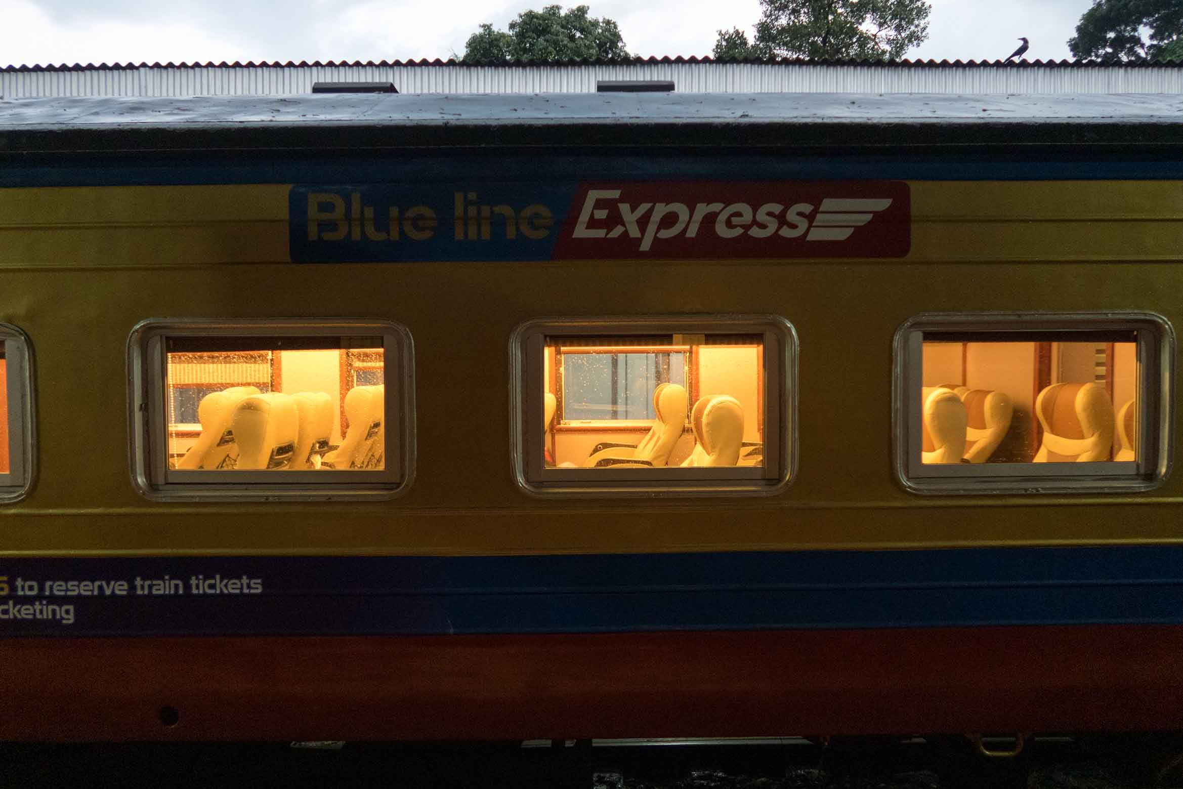 Blueline Express Train Carriage In Kandy