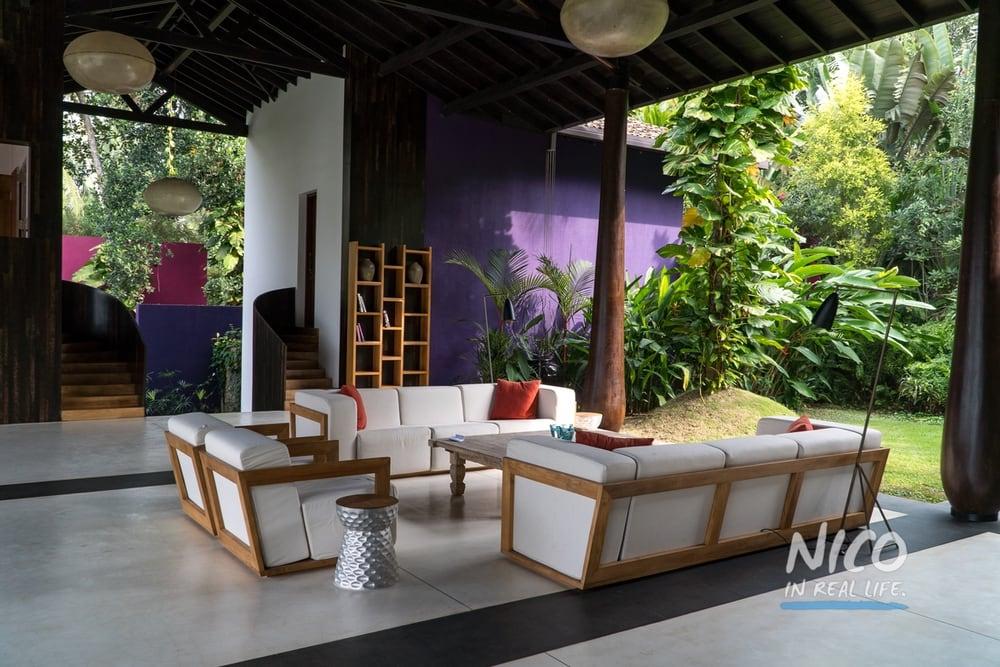 Villa Wambatu Unawatuna Sri Lanka Open Living Room