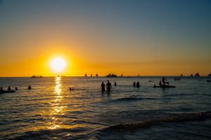 Sunset at White Beach Boracay, Philippines