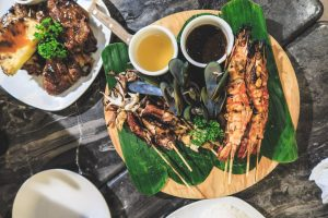 Seafood Grill Plate at I Luv Backyard BBQ Boracay Philippines