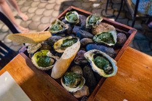Baked Green Oysters at Pig Out Bistro Boracay Philippines