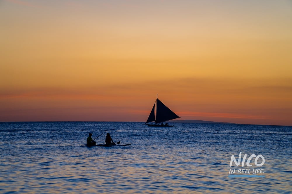 Sunset in front of Boracay Beach, Philippines