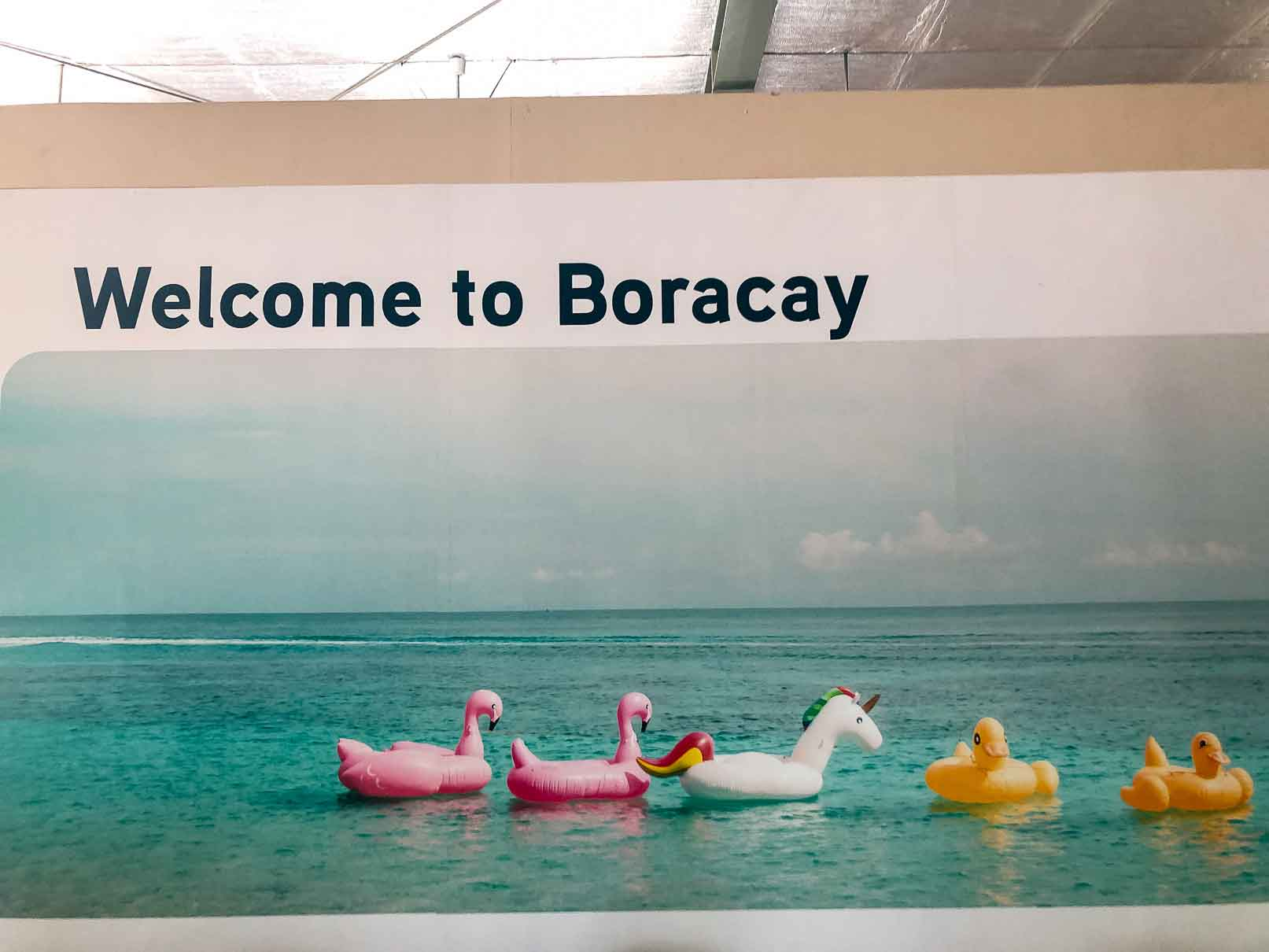 Welcome To Boracay side at Caticlan Airport MPH