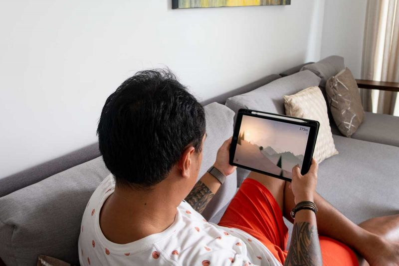 Playing Altos Adventure on iPad